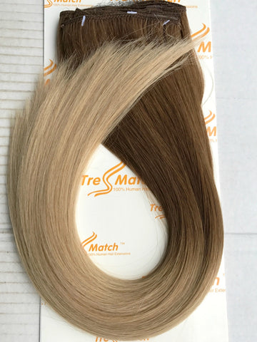 "Ombre 16""-18"" Chestnut Brown/Blonde 130g"