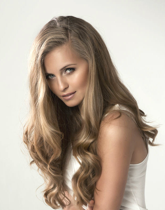 ashy brown clip in remy human hair extensions