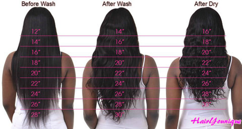 Straight to wavy virgin hair bundles