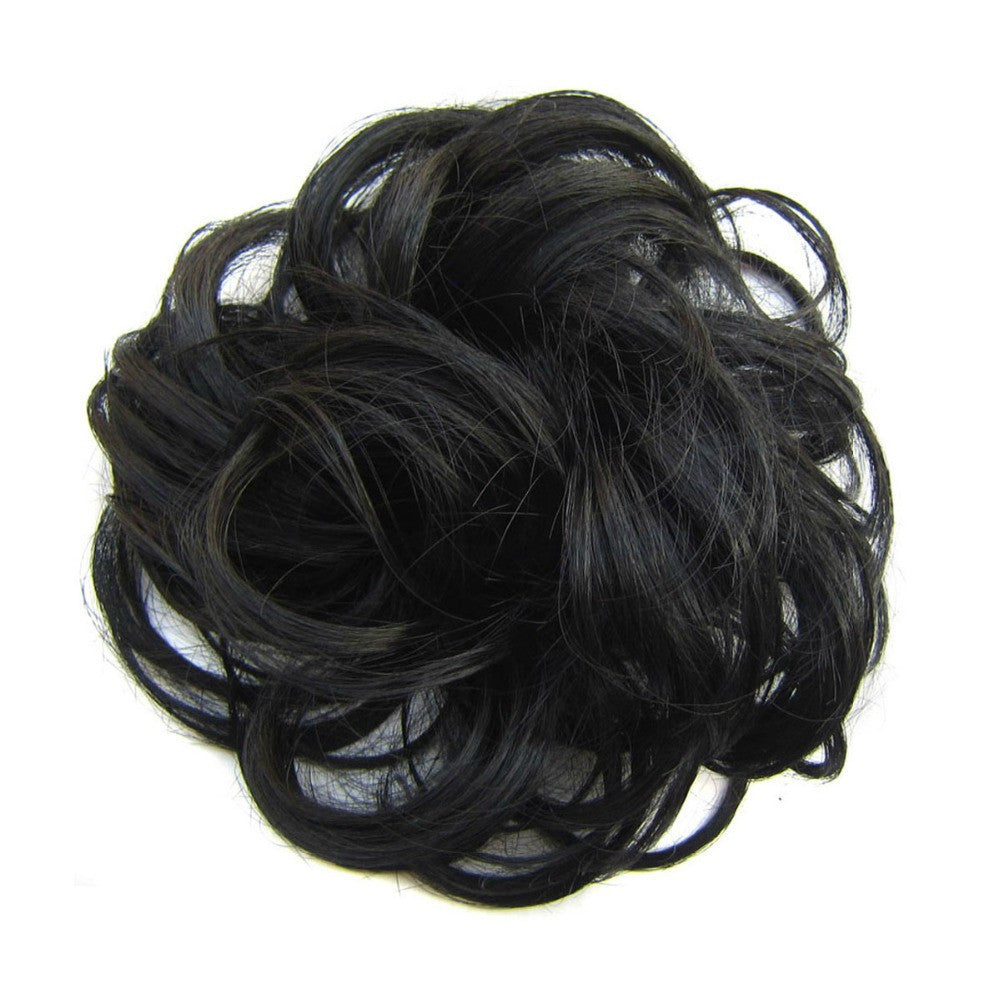 Hair schrunchie wavy off black
