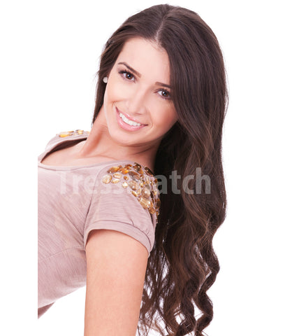 "20"" Chocolate Brown Clip in Remy Hair Extensions"