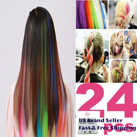 Colorful Hair weft pieces Ombre