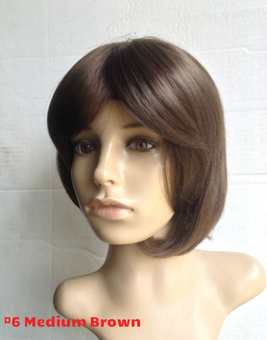 Feathered bangs wig stylish