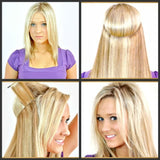 "24"" Halo Invisible Wire Clip in Hair Extensions 16 Colors"