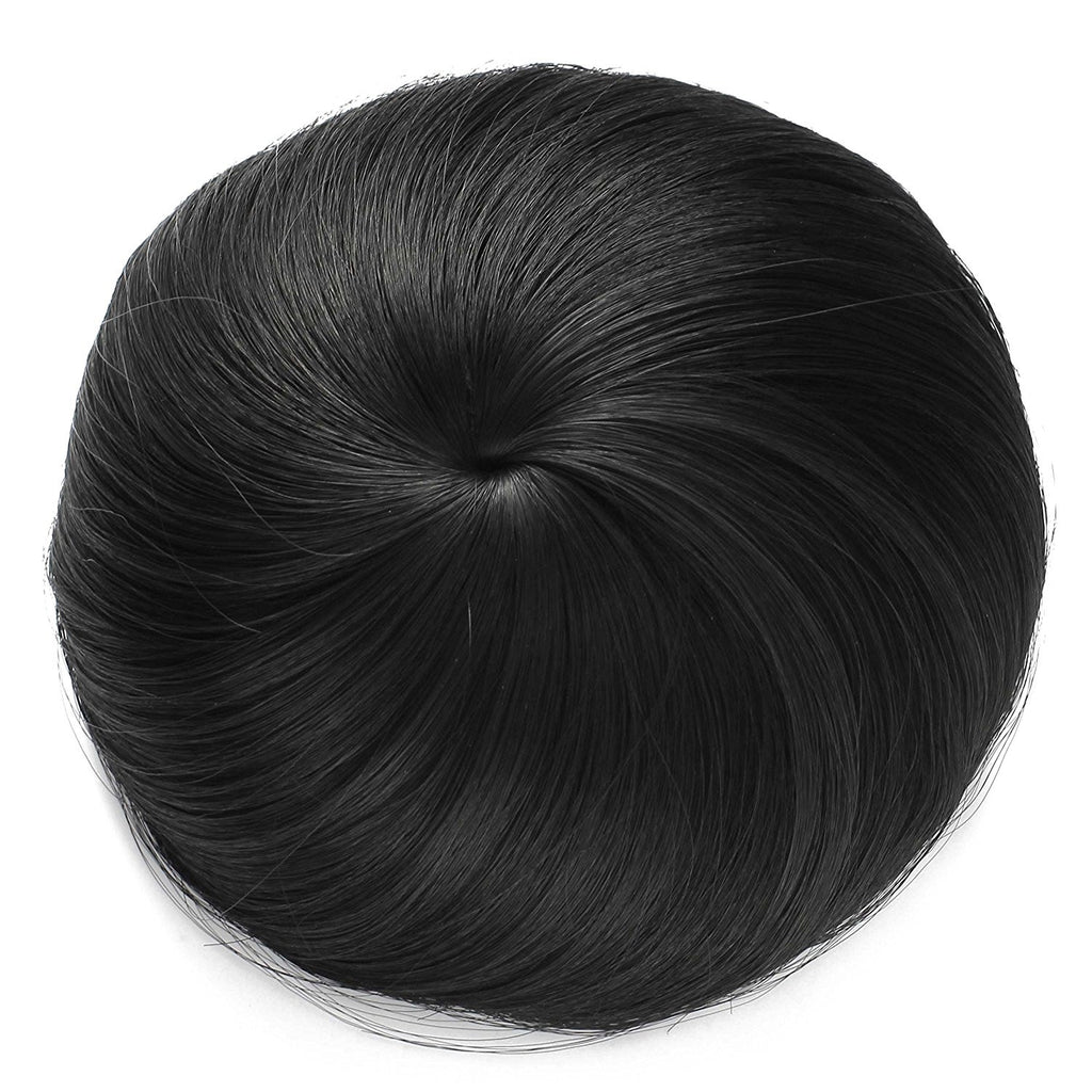 Natural color hair donut bun clip on