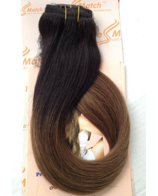 "Ombre 20""-22"" Black/Chestnut Brown 152g"