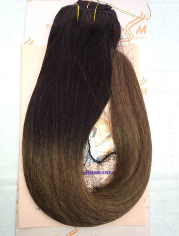 "Ombre 16""-18"" Black/Chestnut Brown 130g"