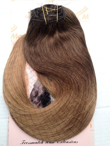 "Ombre 20""-22"" Chestnut Brown/Caramel Blonde 150g"