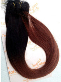"Ombre 20""-22"" Black/Burgunday 120g"