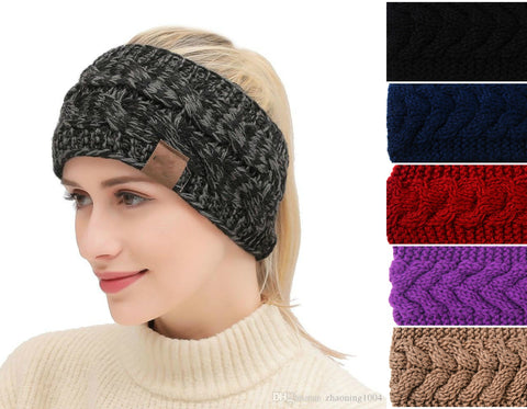 Winter Ear Warmer Hairwrap Headband (5 colors)