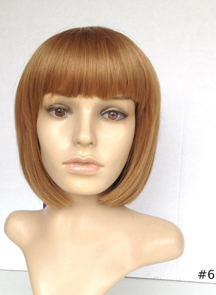 Radiant Chestnut Brown Wig short with Bang