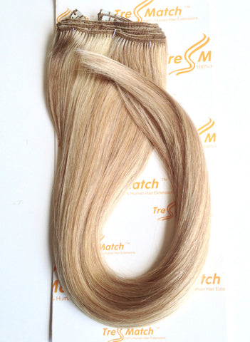 "20"" Vibrant Blonde Highlights Hair Extensions Clip in"
