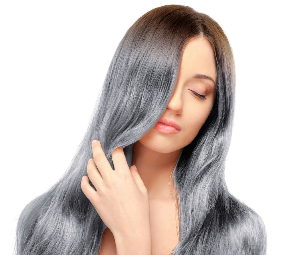 20 22 Inch Ombre Clip In Hair Extensions Off Black Roots To Blue