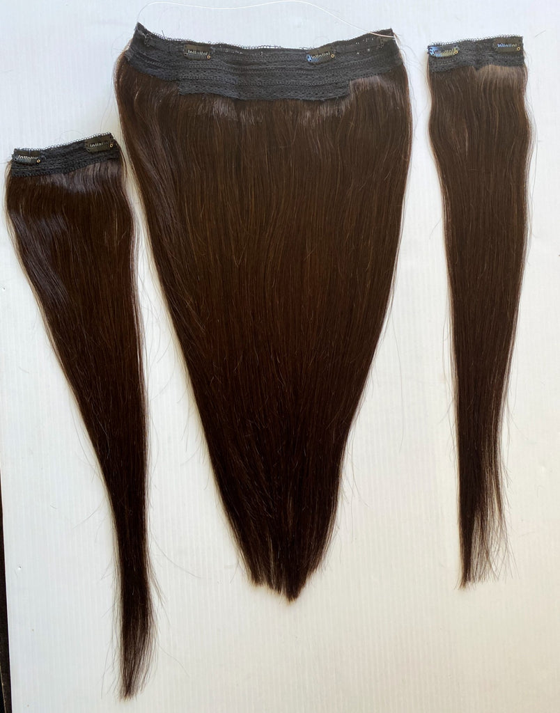 "20"" Halo Remy Human Hair Dark Brown#2"