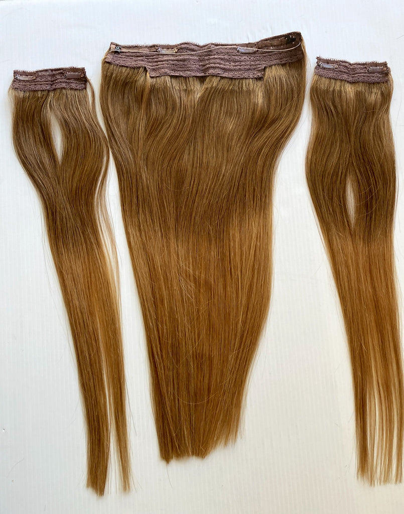 "20"" Halo Chestnut Brown/ Honey Blonde Ombre"