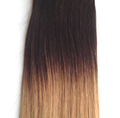20 22 ombre brown to caramel remy human hair clip in ombre 20 22 dark browncaramel honey blonde pmusecretfo Gallery
