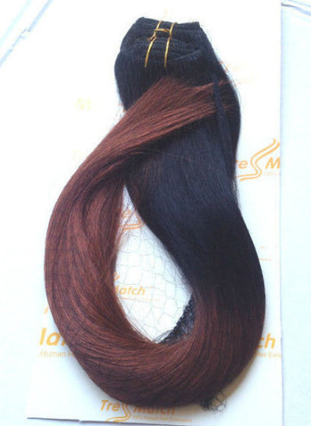 "Ombre 20""-22"" Black/Burgunday 160g"