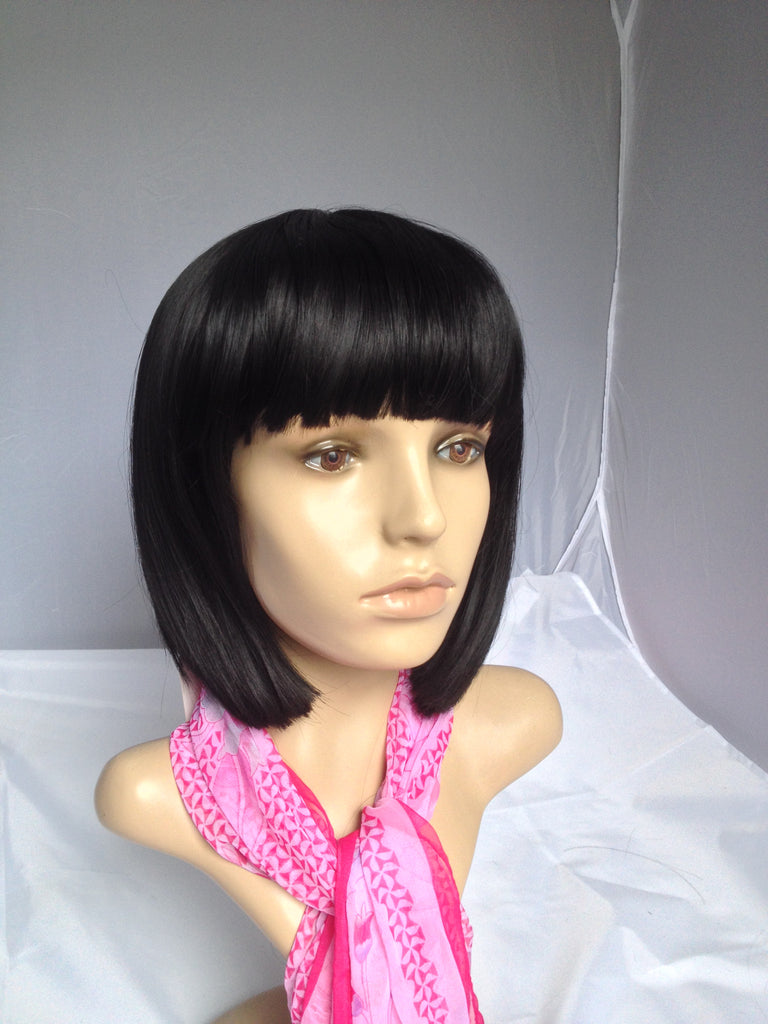 bob cut wig short off black with bang