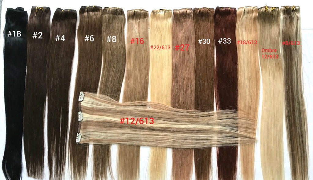 "20"" remy human hair clip in extensions"