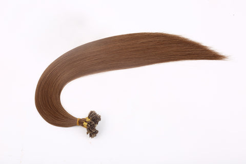"18""-20"" Light Brown Keratin Fusion Hair Extensions"