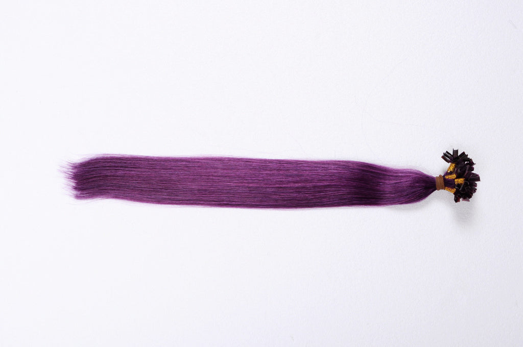 "14""-16"" Purple Keratin Fusion Hair Extensions"