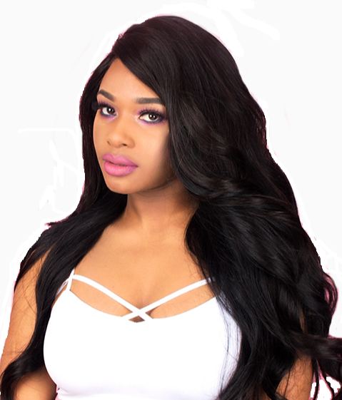 "20"" 100% Hand-Knotted Full Lace Remy Human Hair Wig (Natural Color, Wavy)"