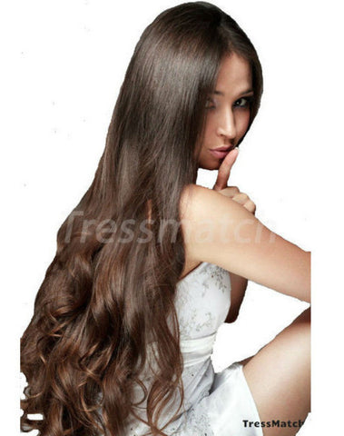 "Artisan 20"" Dark Brown Clip in Hair Extensions"