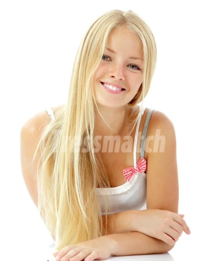 16-18 inch light blonde clip in hair extensions