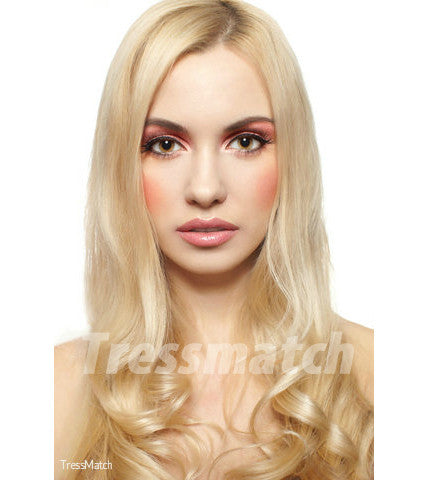 20 inch light blonde clip in hair extensions