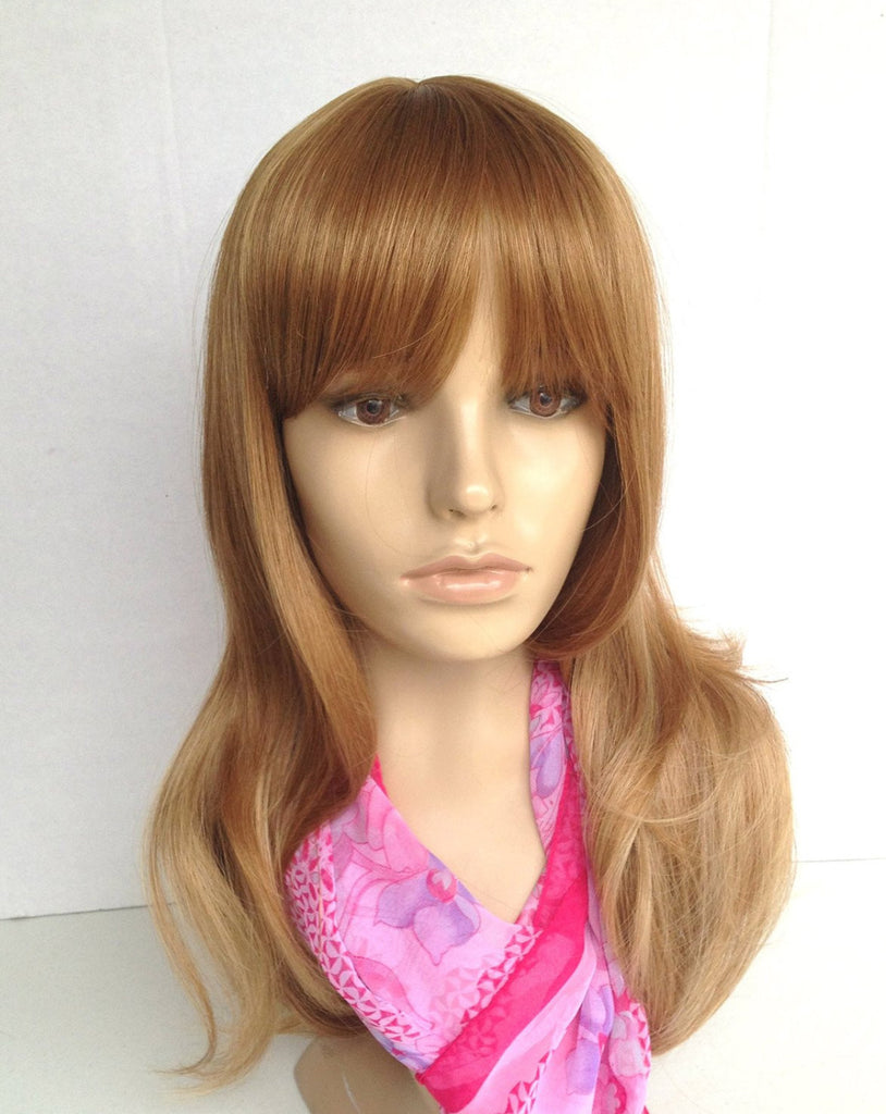 Wig Natural Ombre Medium Brown to Caramel/ Blonde