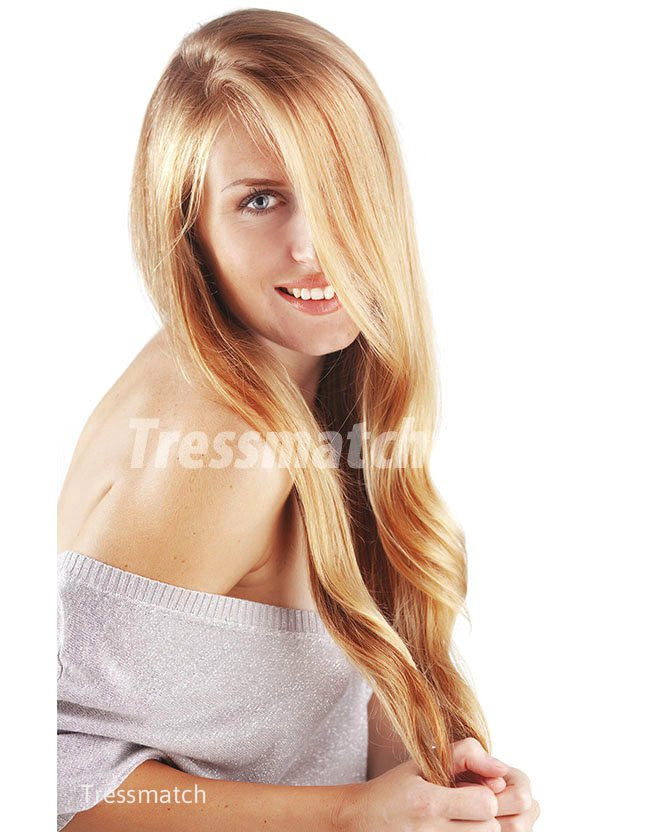 20 22 Strawberry Blonde Highlights Thick Human Hair Extensions