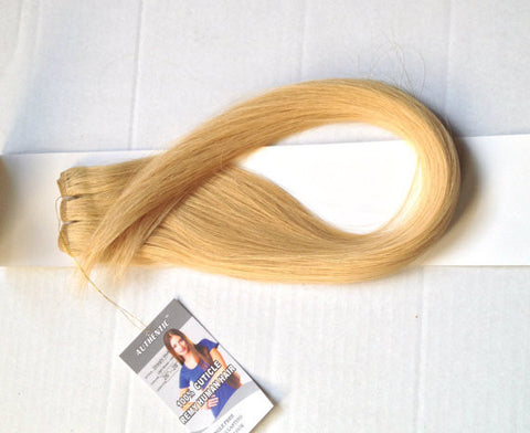 "26""-28"" Natural Blonde Straight Weft"