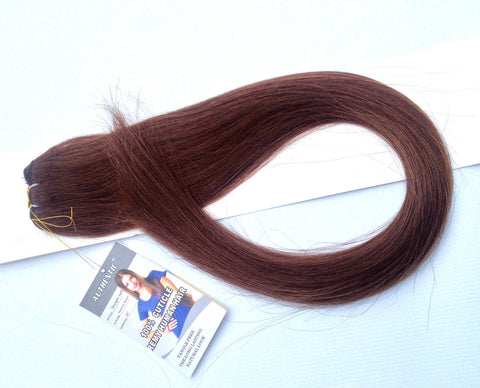 "26""-28"" Chocolate/Medium Brown Straight Weft"
