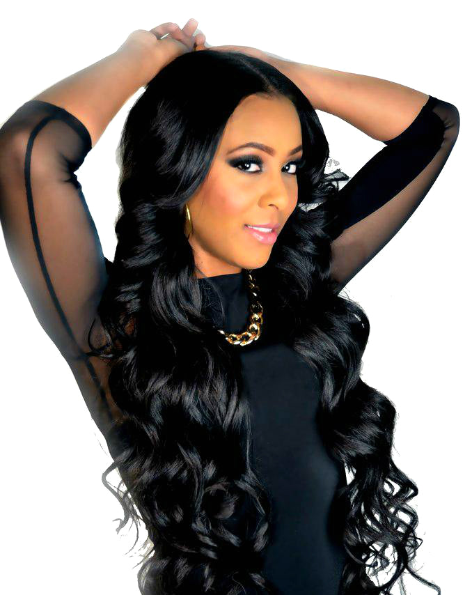 "22"" 100% Wavy Remy Human Hair Wig (Natural Color, Lace Front 13""x5"")"