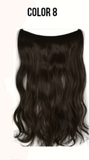 Brown halo invisible wire weft