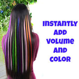 Colorful Clip in weft hair