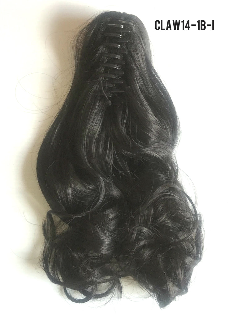 "14"" Long Claw-on Clip in Wavy Ponytail Extensions (11 Colors)"