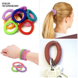 Ponytail Holder Spiral Hair Tie Bracelet