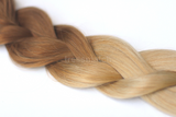 chestnut brown to honey blonde ombre clip in hair extensions