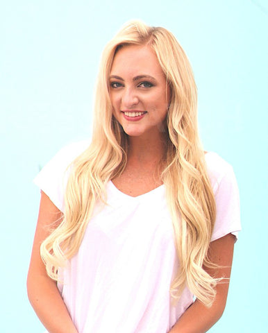 "20"" light bleach blonde clip in remy hair extensions"
