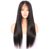 full lace human hair wig straight