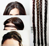 Hair Braiding Headband Elastic Ash Brown Auburn Single Double Braids Accessory