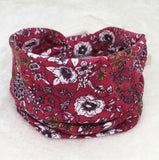 Bandana Headband Hair Wrap Elastic Bohemia Sparkly Head Band Non Slip or Slide