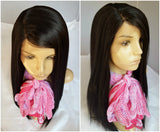 silky long lace wig