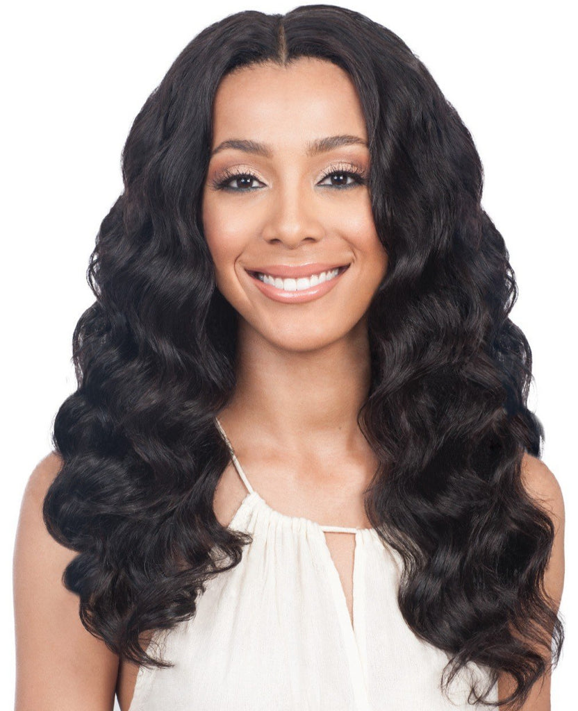 "16"" middle parting wavy wig"