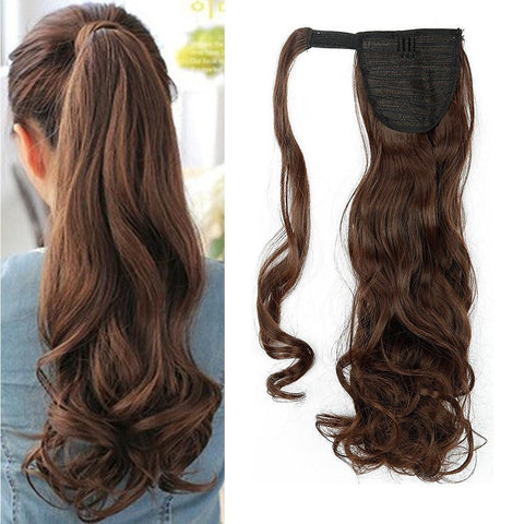 Long flowing clip in ponytail