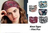 Bandana Headband Hair Wrap Elastic Bohemia Knot Head Band Non Slip or Slide