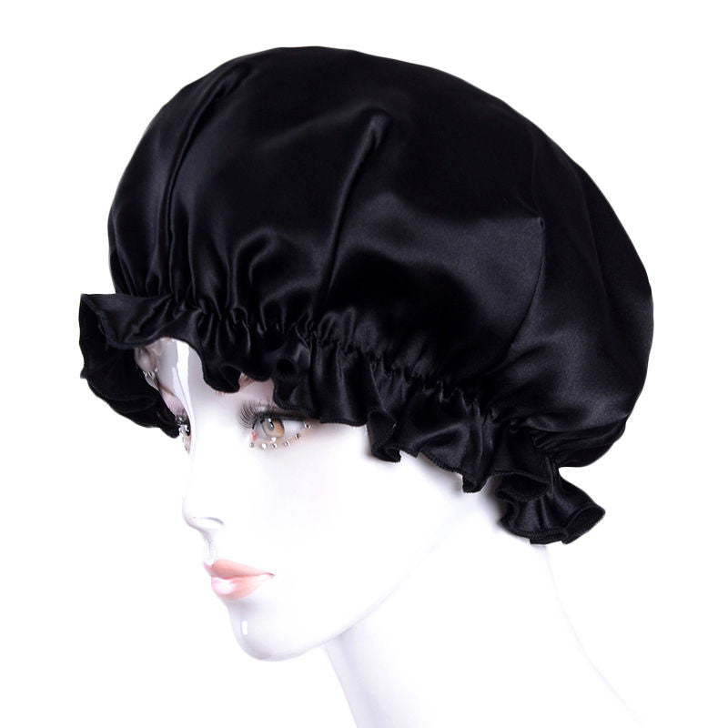Silk elastic band hair night bonnet