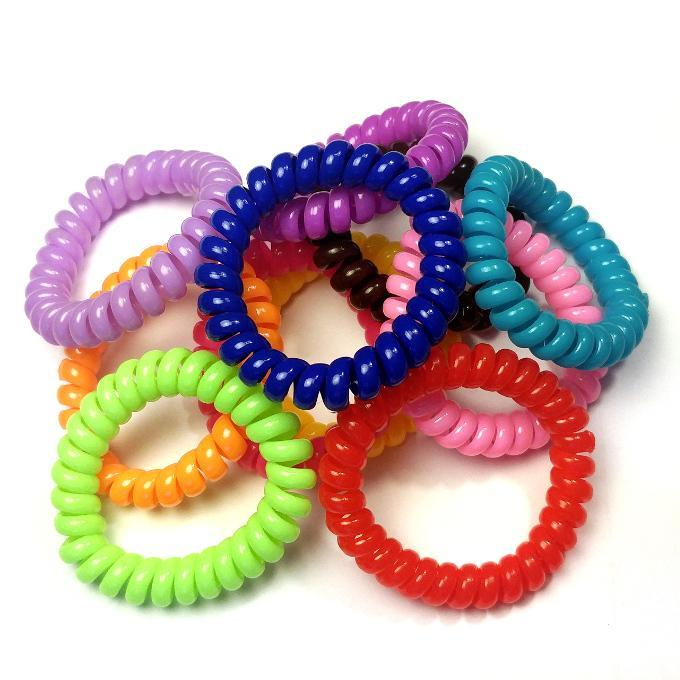 Multi-Purpose Spiral Stretchable Ponytail Holder Hair Tie Bracelet