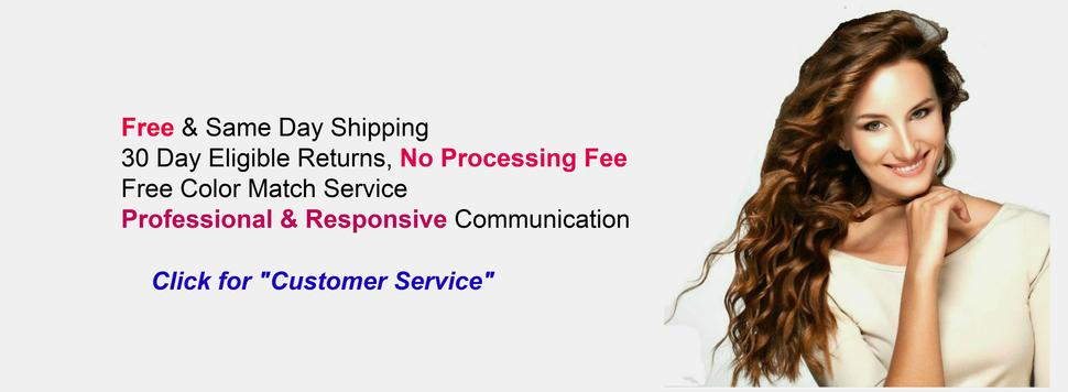 Tressmatch Hair customer service Free & Same Day Shipping